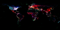 Geonames world map (6281371842).png