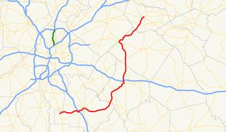 Georgia State Route 81 - Image: Georgia state route 81 map