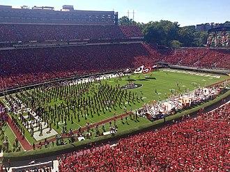 Sanford Stadium - Image: Georgia vs. Tennessee 2016
