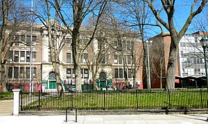 English: Germantown High School in Philadelphi...