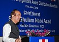 Ghulam Nabi Azad addressing at the award distribution function, organised by the Indian Red Cross Society to honour the voluntary blood donors and organisers, in New Delhi on June 21, 2012.jpg