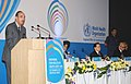 Ghulam Nabi Azad delivering the inaugural address at the three Day World Health Organisation's Conference on Partners for Health in South-East Asia, in New Delhi on March 16, 2011.jpg