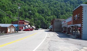 Gilbert, West Virginia - Central Avenue in Gilbert
