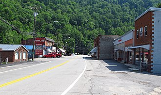 Gilbert, West Virginia - Central Avenue in Gilbert