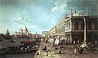 Giovanni Antonio Canal, il Canaletto - The Molo with the Library and the Entrance to the Grand Canal - WGA03923.jpg