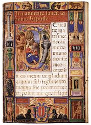 An illuminated page from Juraj Klović's Colonna hours, John Rylands Library, Manchester.