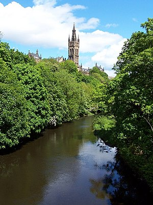 Rector of the University of Glasgow - The tower of the University of Glasgow above Kelvingrove Park