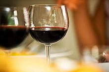 Glass of unidentified red wine.jpg