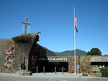 Glendale High School pirate ship entrance - Glendale Oregon.jpg