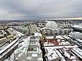 Globen, Stockholm from Slakthusområdet (16534536011).jpg