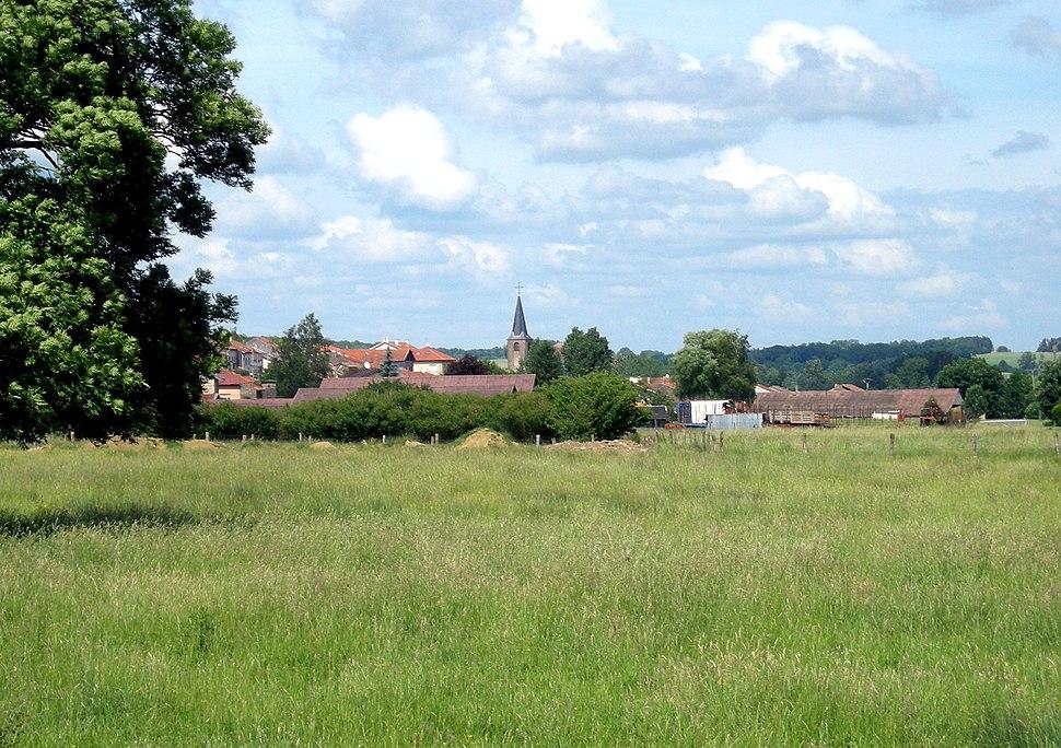 A general view of Glonville, seen from Fontenoy-la-Joûte