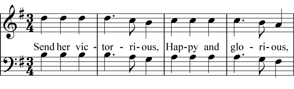 God Save the Queen melodic sequence