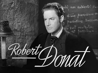 Robert Donat - Donat from a trailer for Goodbye, Mr. Chips (1939)