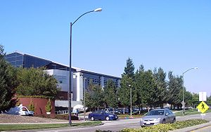 The south side of the Googleplex building in M...