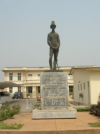 Gordon Guggisberg - Governor Sir Frederick Gordon Guggisberg statue at Korle Bu Hospital, Accra, inaugurated in 1974 on the occasion of the 50th anniversary of the founding of the hospital