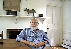 Gorey, in the kitchen of his home at Yarmouth, Cape Cod, 1999
