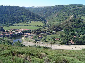 GR 70 - The village of Goudet, on the GR 70