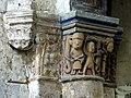 Gournay-en-Bray (76), collégiale St-Hildevert, chœur, 3e grande arcade du sud, chapiteau côté est 2.jpg
