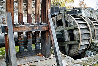 Mining in the Upper Harz - Stamp mill of the old Saiger works (Saigerhütte) of Olbernhau-Grünthal in the Ore Mountains