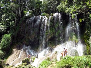 Desembarco del Granma National Park - A waterfall in the national park