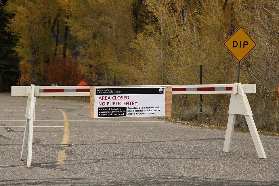 Grand Teton shutdown