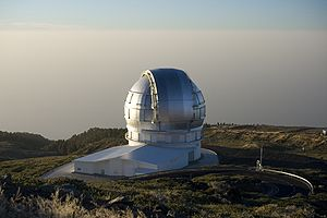 Gran Telescopio Canarias - Dome of the GTC at sunset