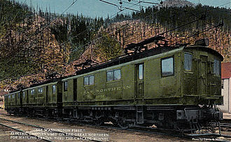 Great Northern boxcab (3 phase) - Two Great Northern boxcabs
