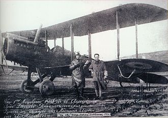 Occupation of Constantinople - Greek aviators at the San Stefano airfield, after the Mudros armistice