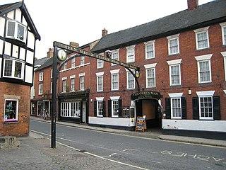 Green Man, Ashbourne Hotel and public house in Ashbourne, Derbyshire, England