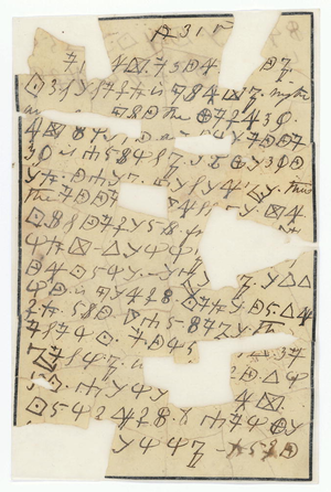 Rose O'Neal Greenhow - An example of Greenhow's cipher