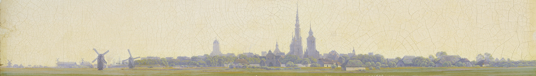Greifswald retained much of its historic charm, here depited by Caspar David Friedrich