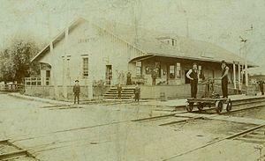 Grimsby railway station - Original GWR station in 1855
