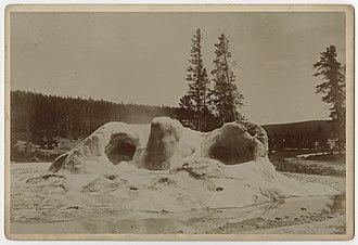 Grotto Geyser - Image: Grotto Geyser Cone, ca. 1888