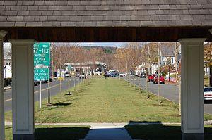Groveland, Massachusetts - Downtown from Elm Park