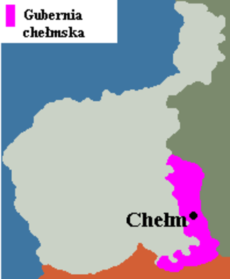 Kholm Governorate (Russian Empire) - Image: Gubernia chełmska