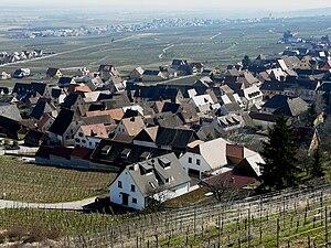 Gueberschwihr - Part of the village of Gueberschwihr seen from the hillside
