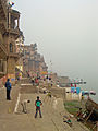 Guli danda on Ganges Ghats in Varanasi.jpg