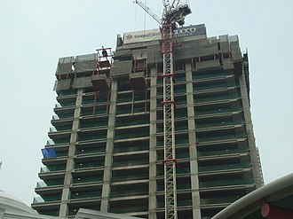 Prestressed concrete - Image: Guoco Tower, Singapore, under construction 20141006