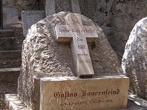 Gustav Bauernfeind - Bauernfeind's grave at the Templer Cemetery in the German Colony, Jerusalem