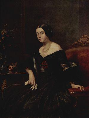 Gustav Richter (artist) - Gustav Richter: Portrait of a lady in a black dress, ca. 1850