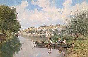 Gustave Garaud Knaben am Fluss.jpg