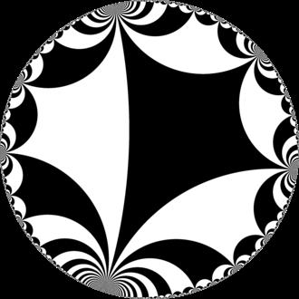 Order-4 apeirogonal tiling - Image: H2chess 24ib