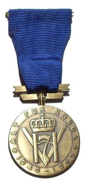 King Haakon VII Freedom Medal - Image: H7 Frihetsmedalje