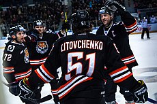 HC Amur Khabarovsk hockey players 2016-01-29.jpg