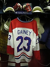HHOF July 2010 Canadiens locker 14 (Gainey).JPG