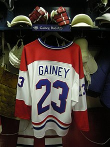 Description de l'image HHOF July 2010 Canadiens locker 14 (Gainey).JPG.