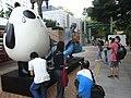 HK Kln Park Hong Kong Avenue of Comic Stars Siuhak 蔣子軒 On On & Guy Guy Fake Forensic Science visitors Oct-2012.JPG
