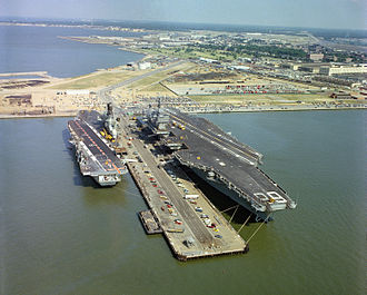 Capital ship - Aircraft carriers form the main capital ships of most modern-era blue-water navies.