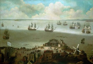HM Ship 'Tiger' Taking the 'Schakerloo' in the Harbour of Cadiz, 23 February 1674