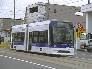 Hakodate Transportation Bureau - A 9600 series tramcar, known as Rakkuru-gō
